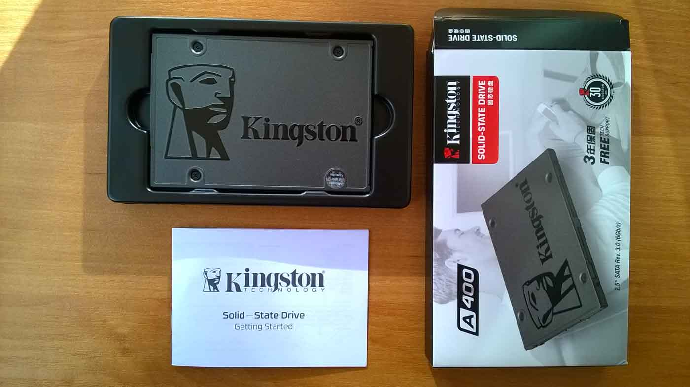 Комплектация SSD Kingston A400